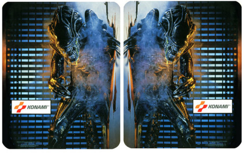 Aliens Konami Video Arcade Side Art