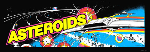 Asteroids Video Arcade Marquee
