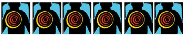 Lethal Weapon 3 Pinball Drop target sticker set