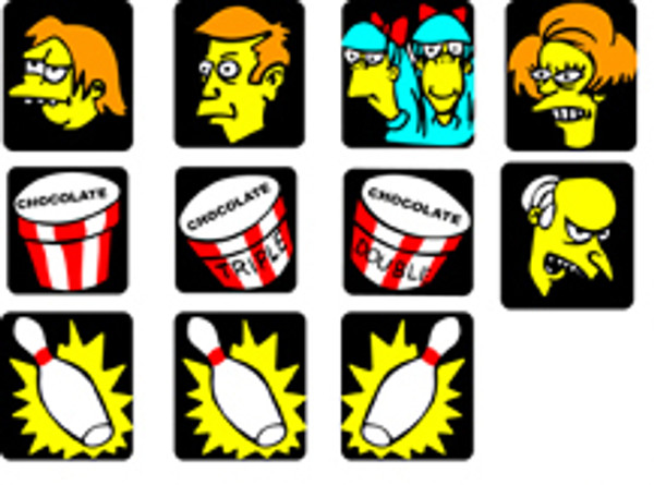 Simpsons Pinball drop target sticker set
