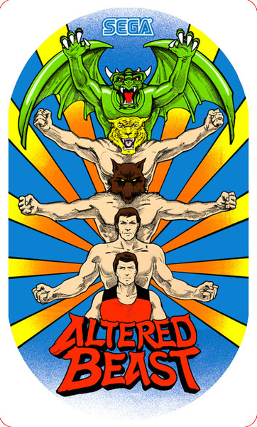 Altered Beast Video Arcade Side Art