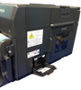 "Epson TM-C7500 has an built in cutter with print resolution at 1200 dpi at speeds up to 12"" per second."