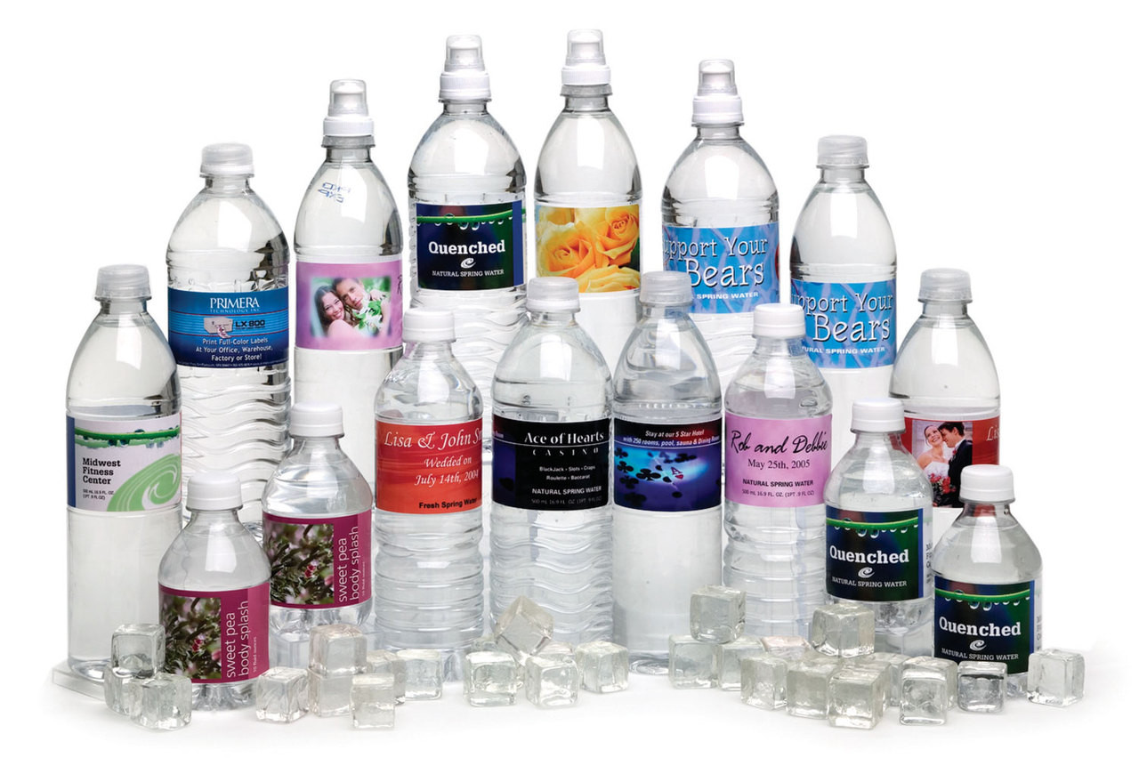Print your own water bottle labels with the Primera Lx900 color label printer.