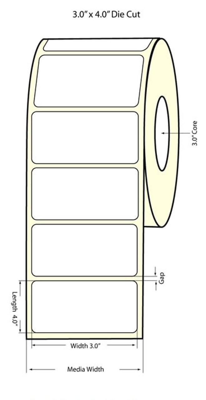 "Primera LX810 High-Gloss 3""x4""  NP High-Gloss Labels 74859"