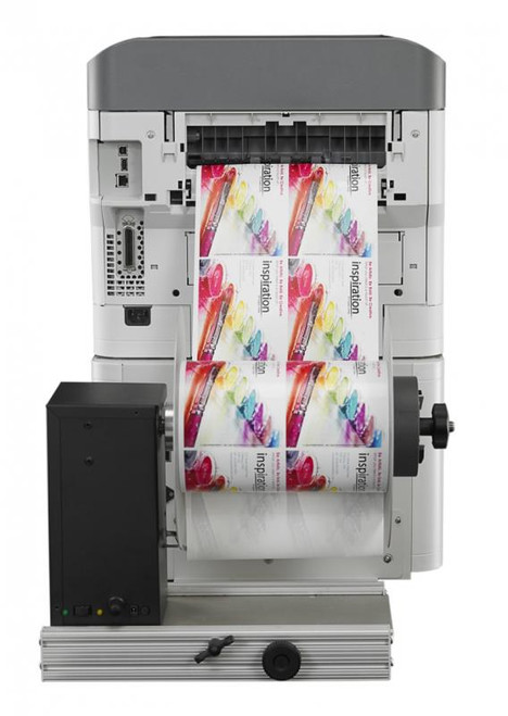 Afinia R635 includes an integrated label rewinder