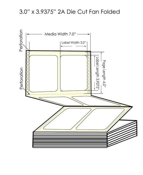 "Epson GP-C831 3"" x 3.9375"" High Gloss Paper Labels 3000/Carton (801015)"