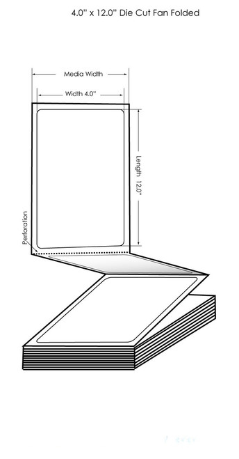 "Epson TM-C3500 4"" x 12"" Matte Tags 500/Carton (819017)"
