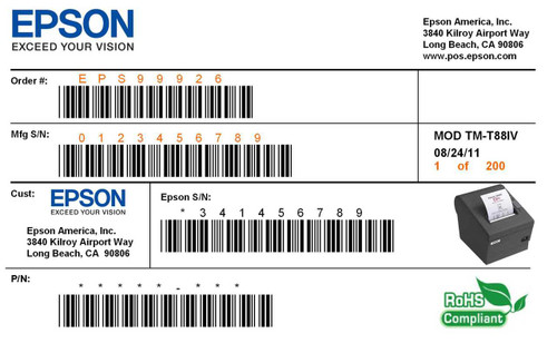 Print your own industrial and commercial labels with the Epson TM-C3400 label printer