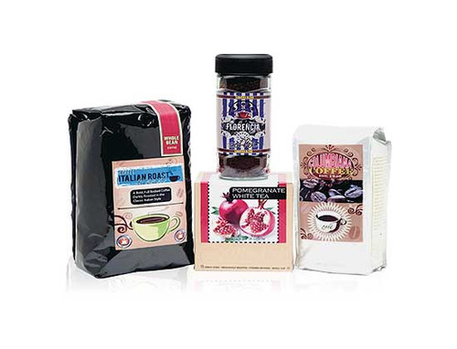 Print coffee labels, tea labels and other product labels with your own VIPColor VP485 color label printer.