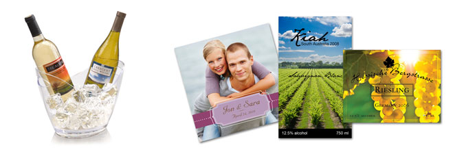 Wine labels printed by LX900 and LX400 color label printer