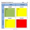 Eisenhower / Urgent Important Matrix Template for Word, traffic lights version