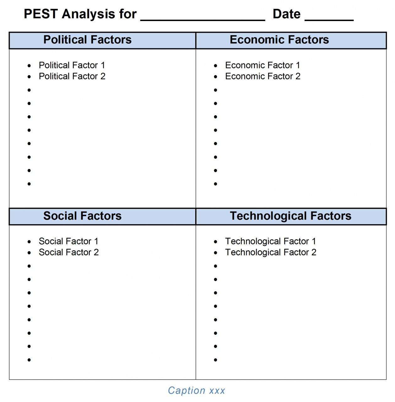 PEST Analysis Ms-Word Template In Pestel Analysis Template Word 2