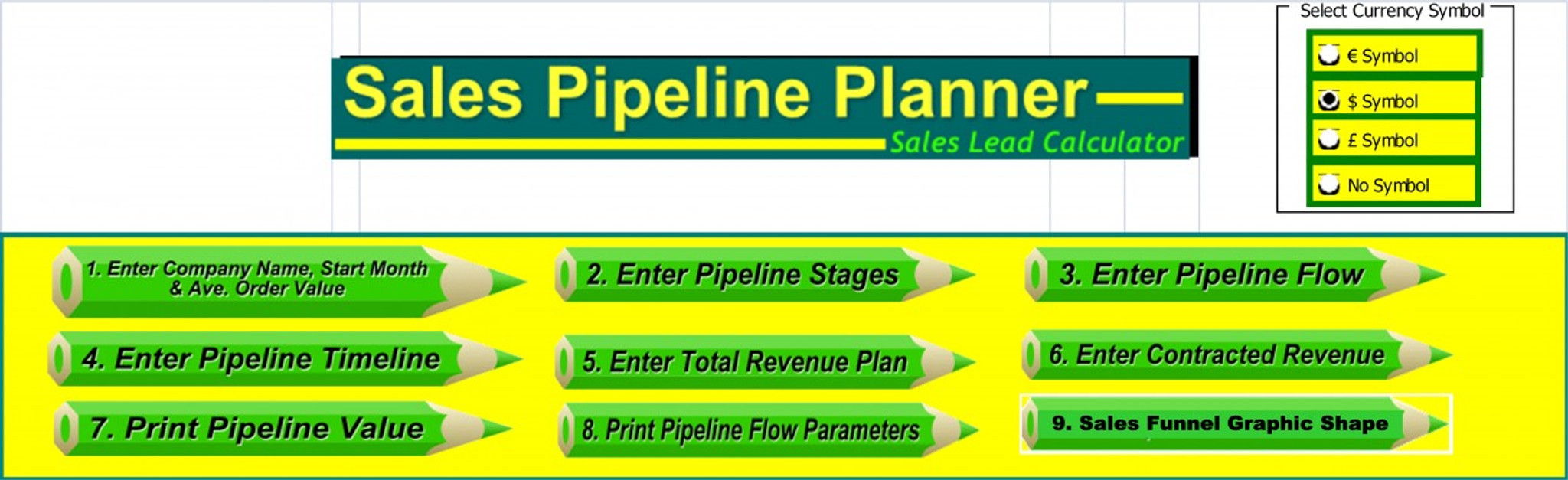 sales funnel pipeline each stage leads excel calculator