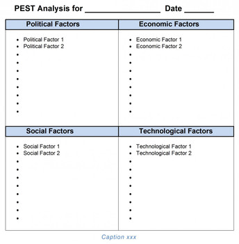 PEST Analysis Template MS-Word