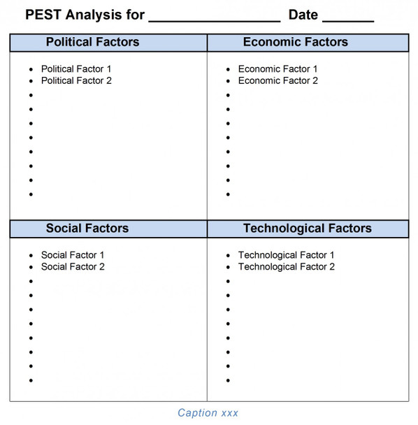 PEST Analysis Template MS-Word 2007, 2010, 2013