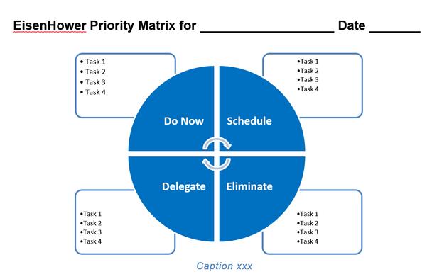 Eisenhower / Urgent Important Matrix Template for Word, Graphic version