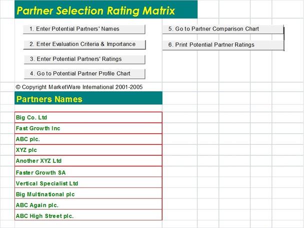 Partner Evaluation