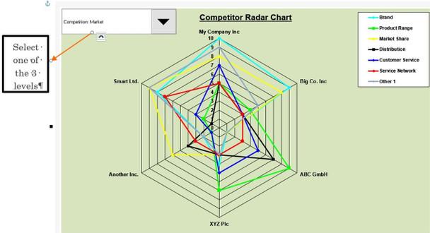 Companies Competitor Radar Chart