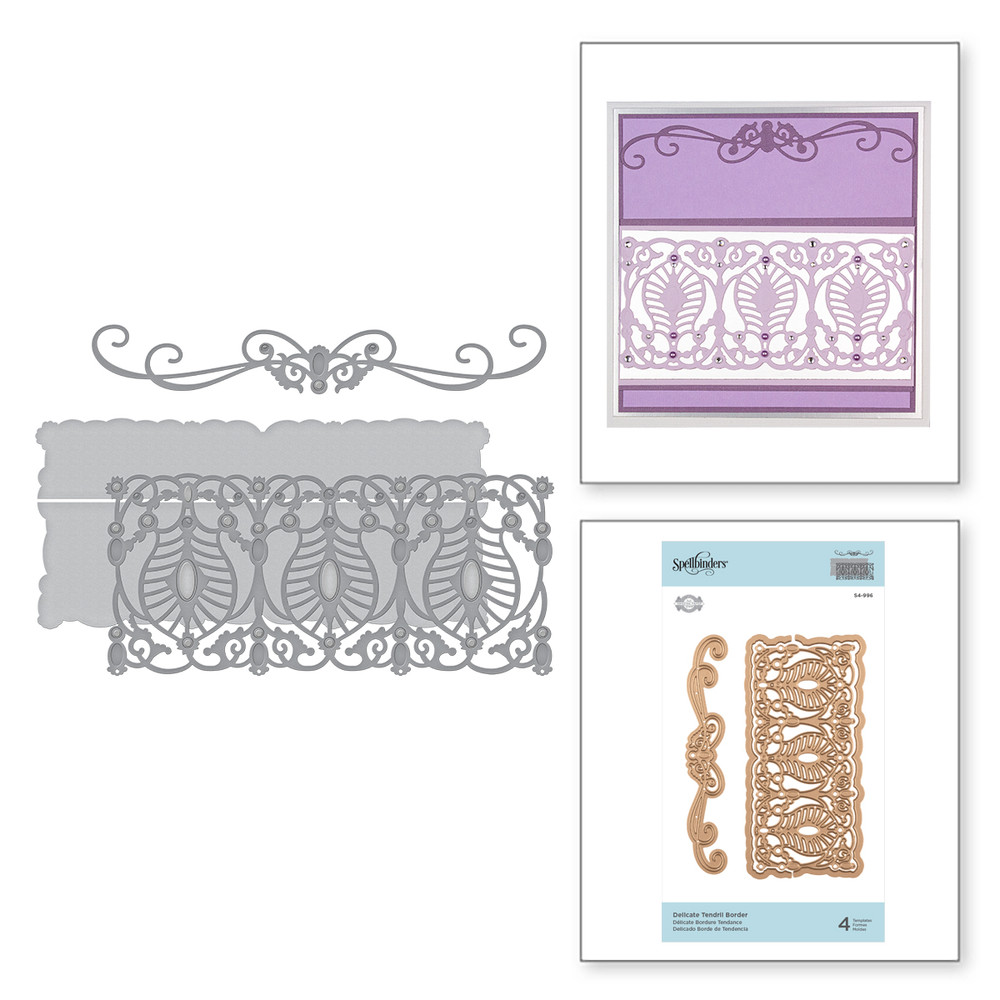 Shapeabilities Delicate Tendril Border Etched Dies Vintage Treasures by Becca Feeken
