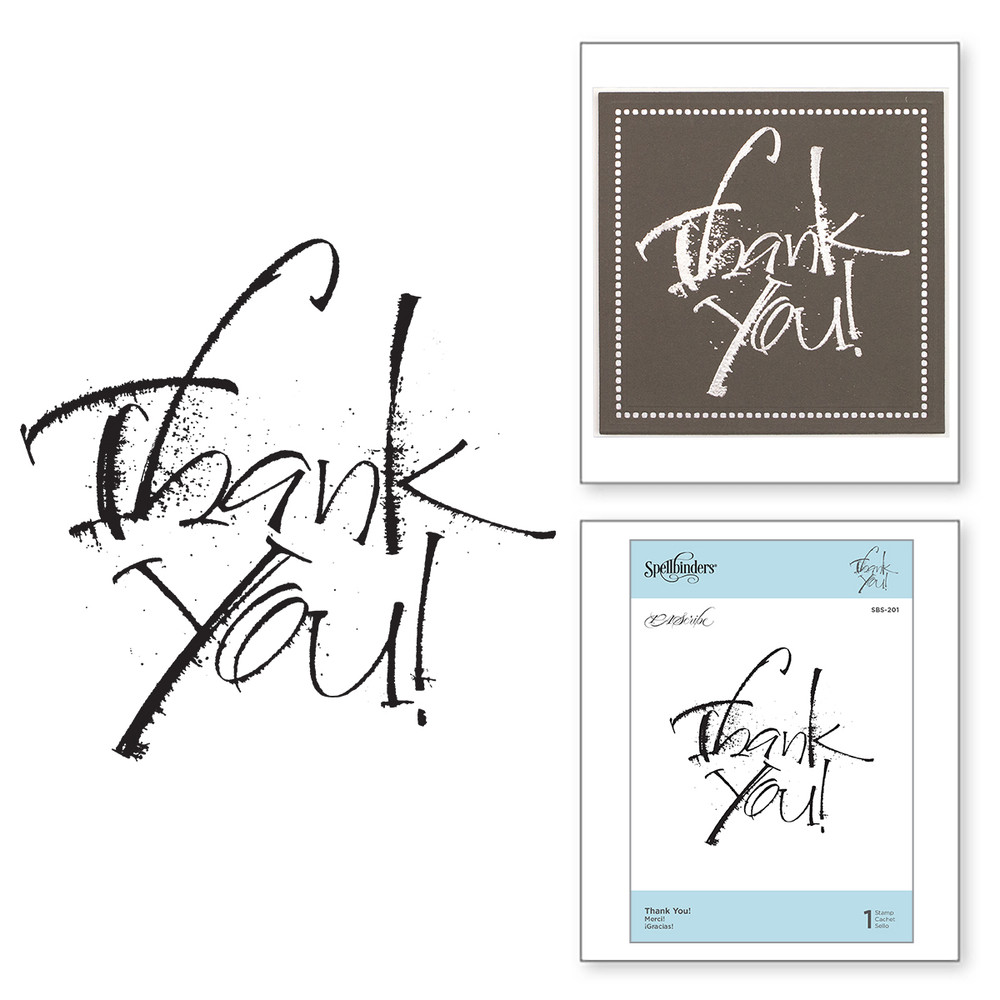 Thank You Clear Stamp PA Scribe by Paul Antonio