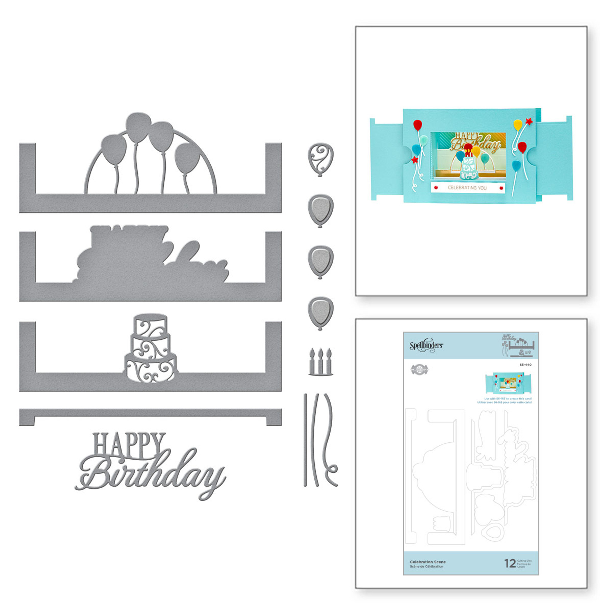 Celebration Scene Etched Dies From Make A Scene Collection By Becca Feeken