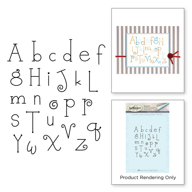 Whimsy Alphabet Stamp My Little Red Wagon by Debi Adams