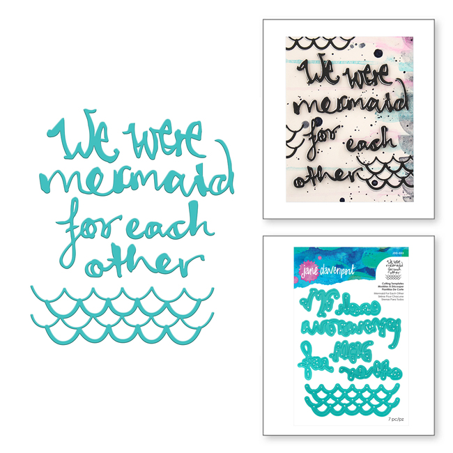 Mermaid for Each Other Etched Dies Artomology Collection by Jane Davenport