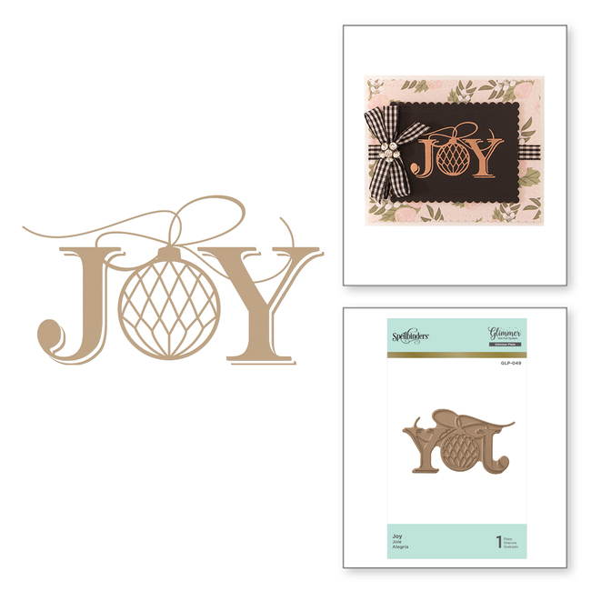 Joy Holiday Glimmer Hot Foil Plate