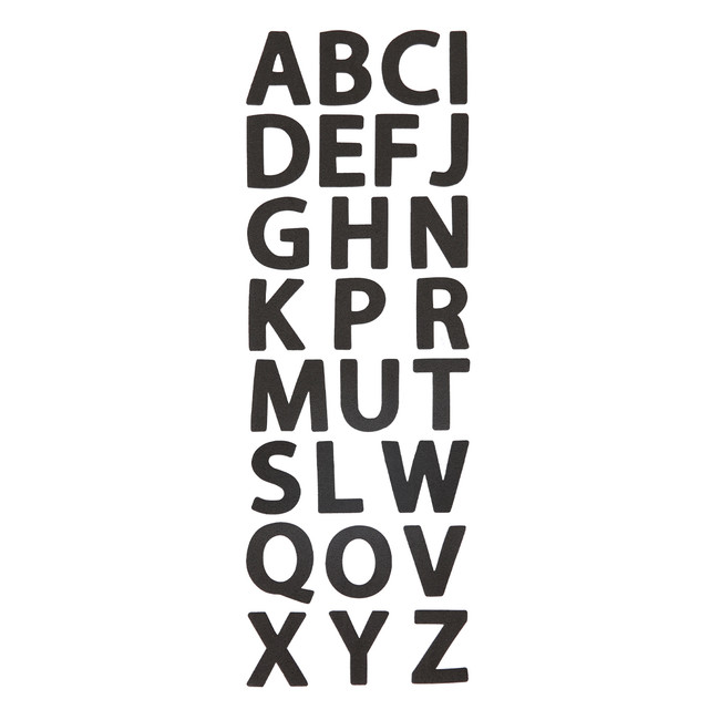 Big Alphabet Foam Letter Stickers