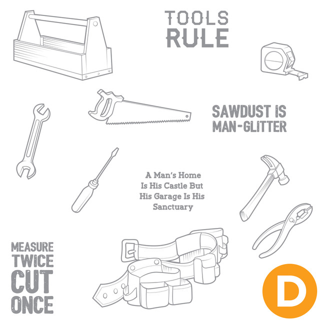 Tools Rule Stamp Set