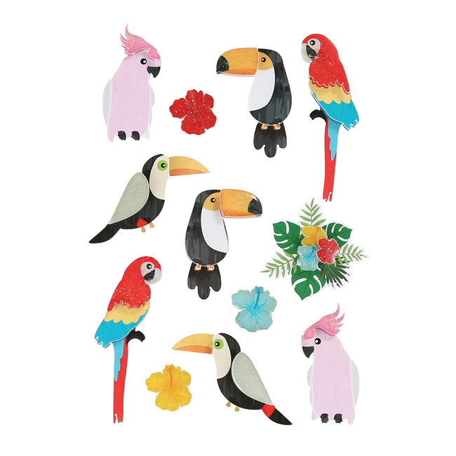 Toucan Friends Chipboard Stickers