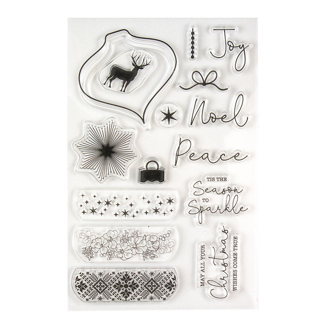 Deer Santa Clear Stamp Set - Card Kit of the Month Extras