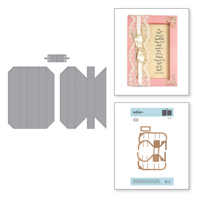 "Shapeabilities Adjustable Shadowbox Frame with 3/4"" Border Etched Dies Shadowbox by Becca Feeken"