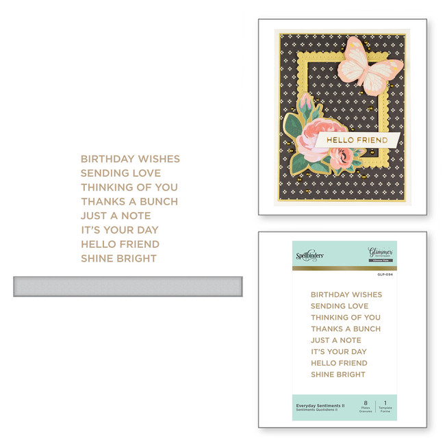 Everyday Sentiments II Glimmer Hot Foil Plate