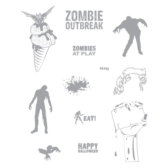 Zombies Attack! Stamp Set