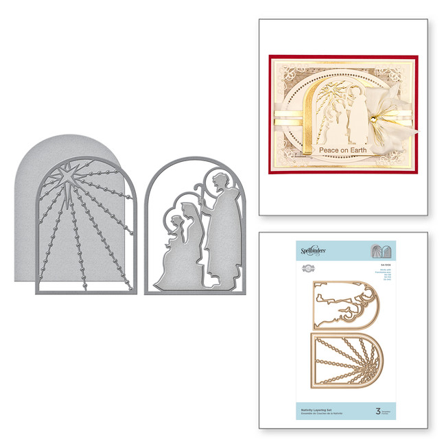 Shapeabilities Nativity Layering Set Etched Dies 3D Holiday Vignettes Collection by Becca Feeken