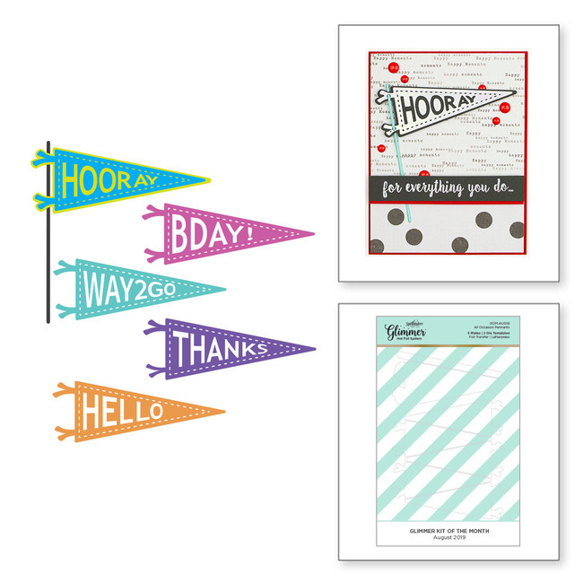 All Occasion Pennants - Glimmer Hot Foil Kit of the Month - (Plates & Dies Only)