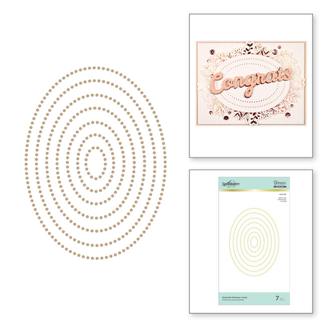 Essential Glimmer Ovals Hot Foil Plates