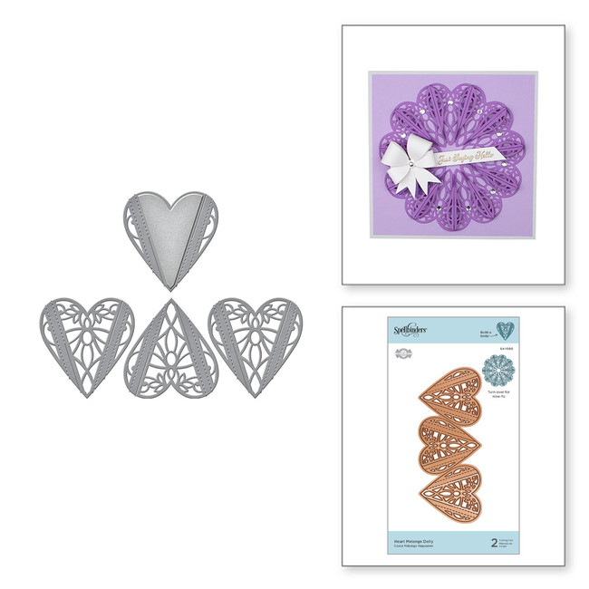 Heart Melange Doily Etched Dies from Dimensional Doilies by Becca Feeken
