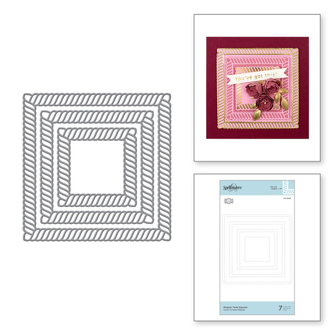 Elegant Twist Squares Etched Dies  from the Elegant Twist Collection by Becca Feeken
