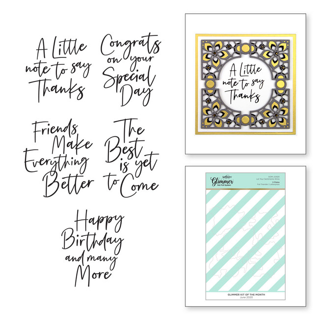 Let Your Sentiments Shine - Glimmer Hot Foil Kit of the Month - (Plates Only)