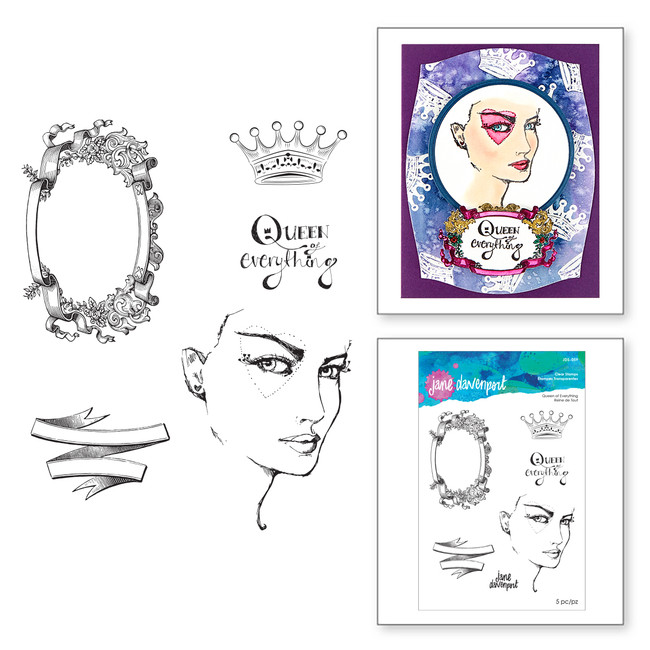 Queen of Everything Clear Stamps from Stamp Camp by Jane Davenport