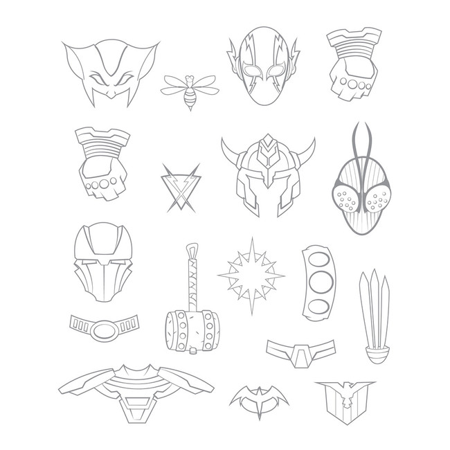 Hero Accessories Stamp Set