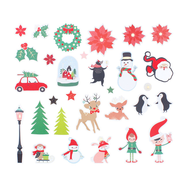 Dancin Santa Die Cut Shapes Set - Card Kit of the Month Extras