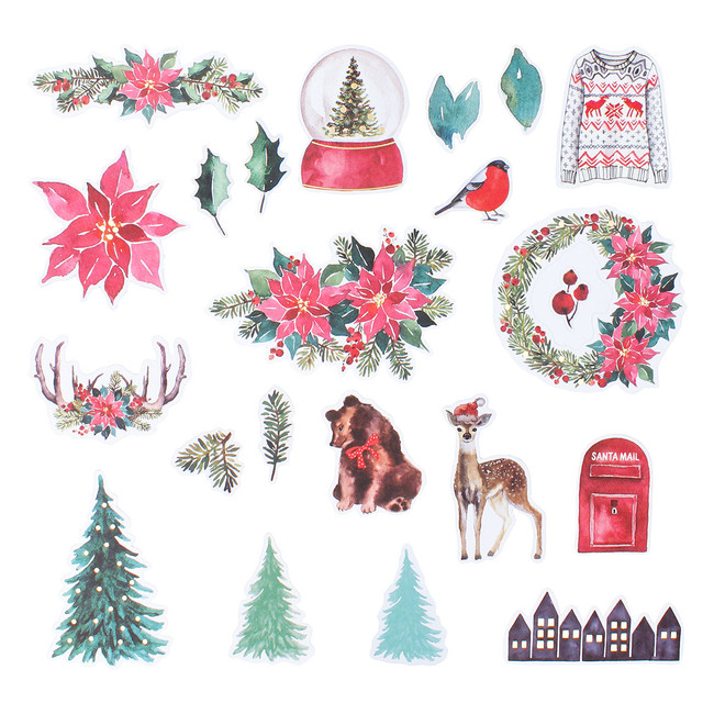 Merry Wishes Die Cut Shapes - Card Kit of The Month Extras