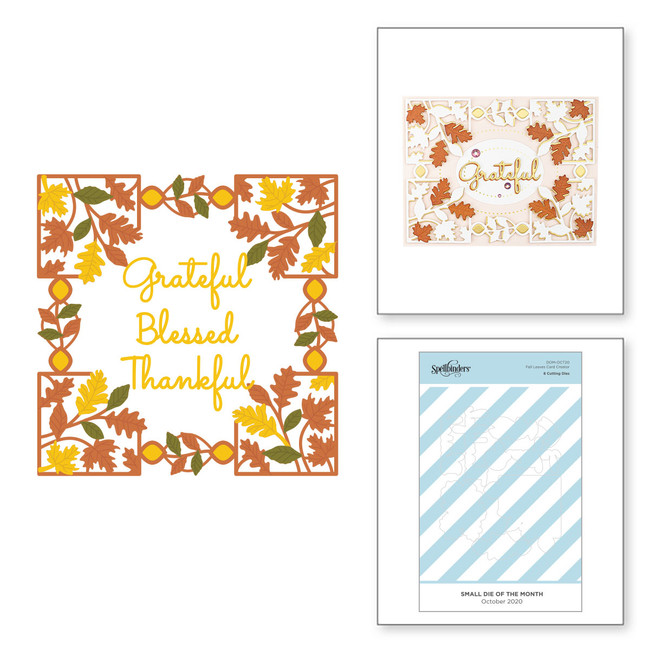 Fall Leaves Card Creator - Small Die of the Month Club