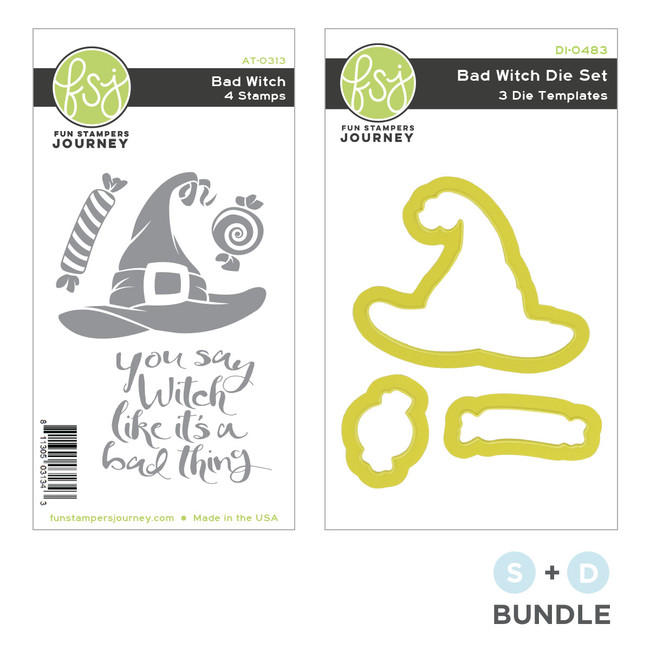 Bad Witch Stamp and Die Bundle