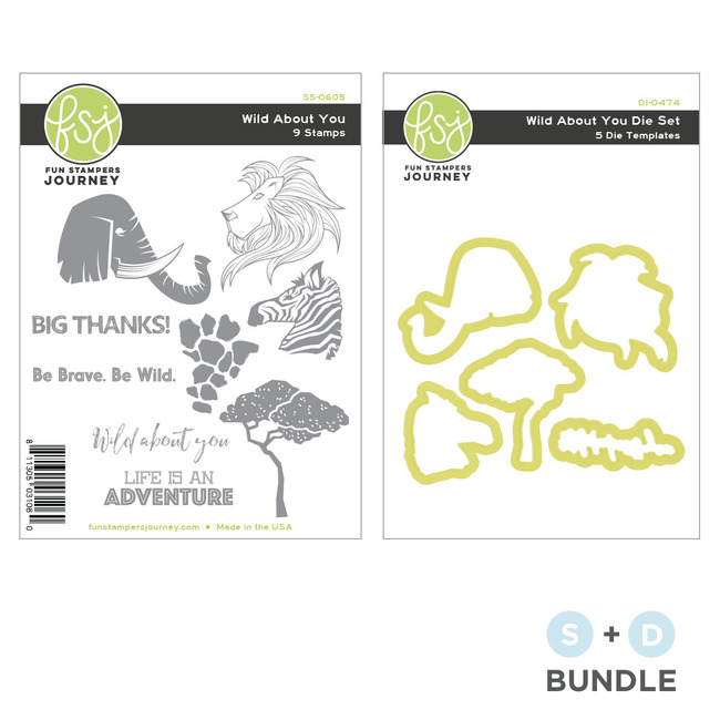 Wild About You Stamp and Die Bundle