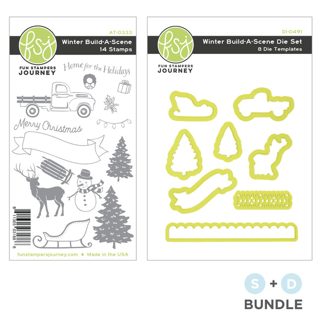 Winter Build-A-Scene Stamp and Die Bundle
