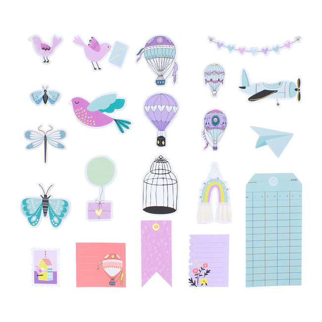 Let Your Heart Soar Die Cut Shapes  - Card Kit of the Month Extras